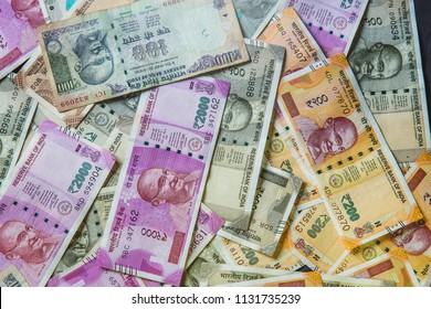 Indian Currency Rupees 100, 200,500 and 2000 Rs Currency Note