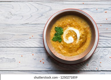 Indian curried lentil and apples soup.