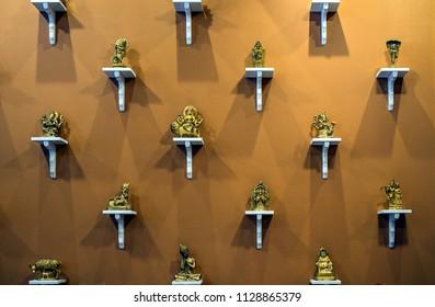 Indian deities on wall