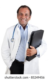 Indian doctor with folder