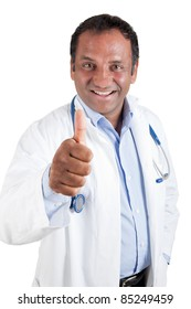 Indian doctor with thumb up