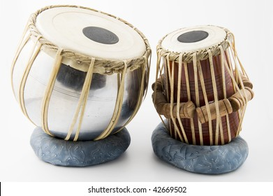 indian drum isolated on white background