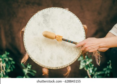 Indian drum in sound therapy