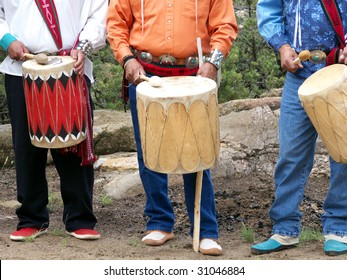 Indian drummers performing for a religious ceremony
