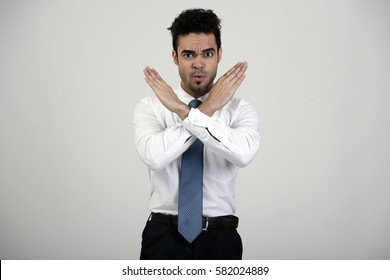 Indian employee with hands crossed