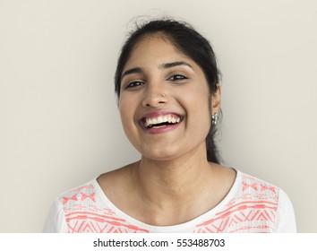Indian Ethnicity Happy Woman Portrait