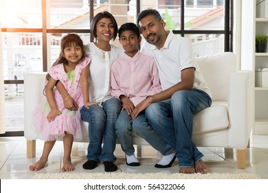 indian family portrait indoor