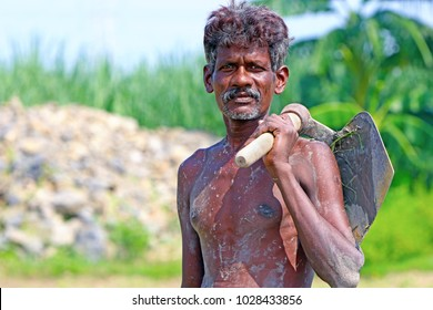 Indian Farmer Posing to Camera