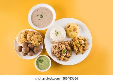 indian fasting recipes, navratri vrat food, mahashivratri food, ekadashi food recipe, upwas food, sabudana khichadi from soaked Sabudana or sago, groundnut sweet laddu, sabudana vada, potato sheera