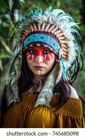Indian female Shaman portrait