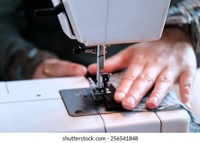 Indian female tailoring.