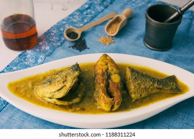 Indian Fish curry with mustard sauce