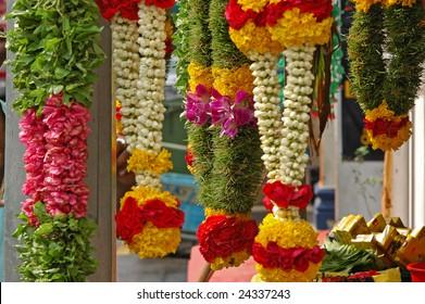 Indian Flower Garlands For Prayer