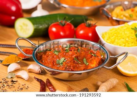 Indian Food Chicken Jalfrezi Curry Balti Stock Photo Edit Now