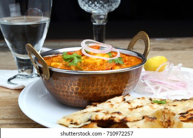 Indian Food or Indian Curry and bread