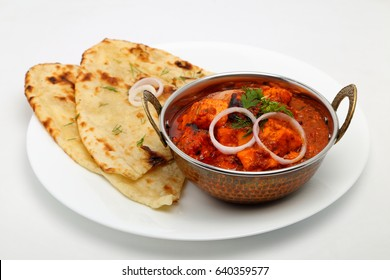 Punjabi food images stock photos vectors shutterstock indian food or indian curry in a copper brass serving bowl with bread or roti forumfinder Gallery