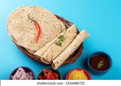 Indian food delicacy side dish call papad