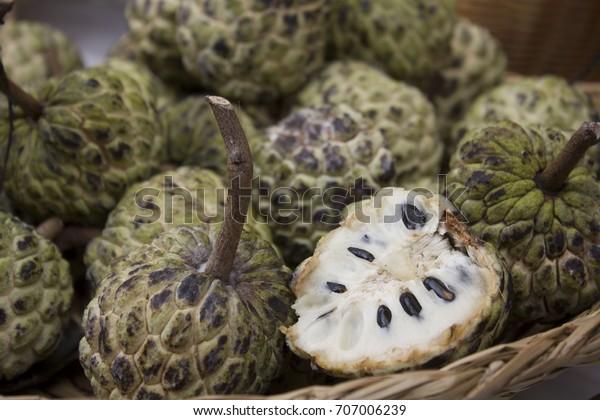 Indian fruit cherimoya
