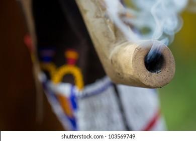 Indian fuming tube closeup
