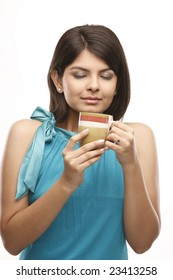 Indian girl with the yellow cup