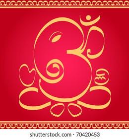 Indian God Ganesha design