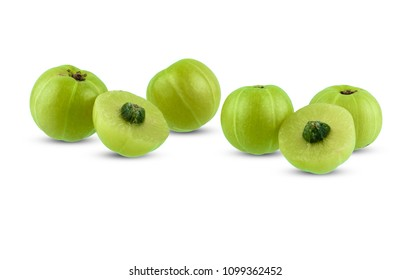 Indian gooseberry isolated on white background with clipping path