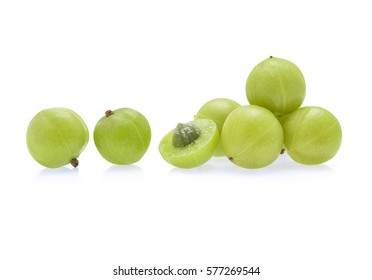 Indian gooseberry isolated on white background
