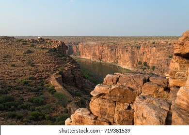 Indian Grand canyon and fort walls landscape