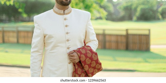 Indian Groom wearing sherwani style