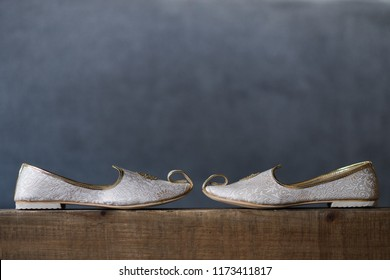 Indian groom's wedding ceremony Khussa shoes