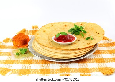 indian gujrati snack khakhra or crispy roti or crispy chapati bread