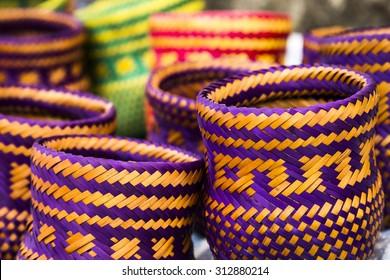 Indian handicrafts made by the natives of Paraty, Rio de Janiero - Brazil.