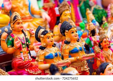 Indian Hindu God and Goddess Statues for Navarathri Kolu festivel