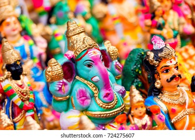 Indian Hindu God Lord Ganesh Statues for Navarathri Kolu festivel