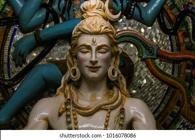 Indian Hindu God Shiva statue made of white marble