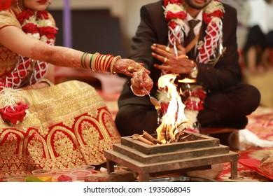 Indian Hindu traditional wedding hawan