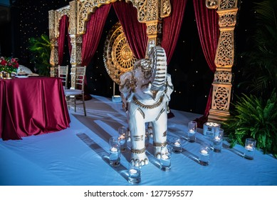 Indian and Hindu Wedding Reception decor