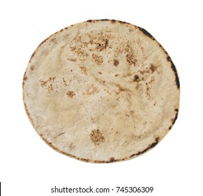 Indian Homemade Cuisine Food Chapati Also Know as Roti, Chapathi, Flat Bread, Fulka, Paratha, Chapatti, Chappathi, Kulcha or Naan isolated on White Background