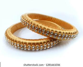 Indian Jewelry silk thread jhumka Bangles Necklace