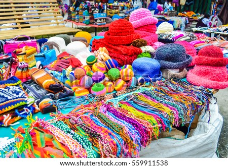 Indian Knit Handicrafts On Stalls Indian Stock Photo Edit Now
