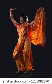 Indian Lady performing local folk dance  called lavani
