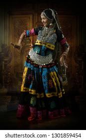 Indian Lady performing Rajasthani Folk dance called Kalbeliya