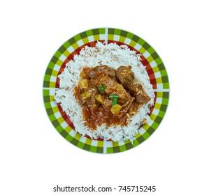Indian lamb curry - Sindhi Biryani,  close up