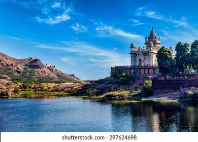 Indian landmark Jaswanth Thada mausoleum, Jodhpur, Rajasthan, India