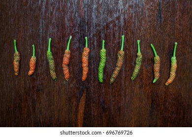 Indian Long Pepper on Table