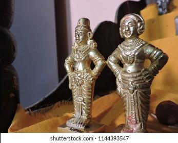 indian lord vitthal Rukmini statue