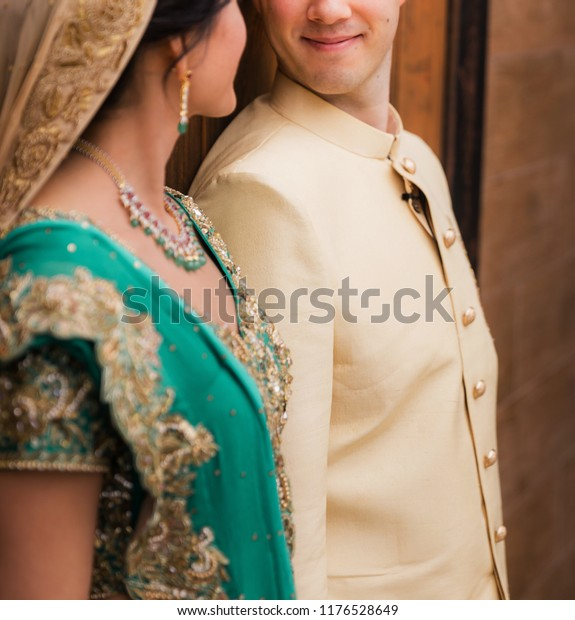 Indian Lovebirds Couple Looking Each Other Stock Photo Edit Now 1176528649