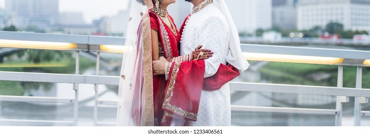 Indian lovebirds hugging heart warming moment