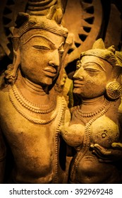 Indian lovers in tantric position, north-west India original manufact, 10-11 century