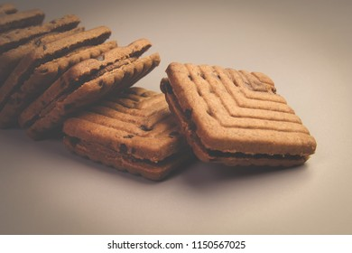 Indian Made Biscuits with Chocolate Cream